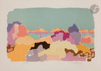 Charles LAPICQUE (1898-1988) Calme sur les...