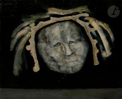 Paul RAMBIÉ (né en 1919) Masque, 1973 Huile...