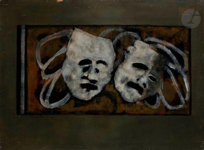 Paul RAMBIÉ (né en 1919) Deux masques, 1974...