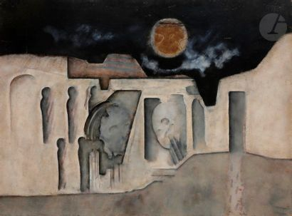 Paul RAMBIÉ (né en 1919) Les Roches, 1981...