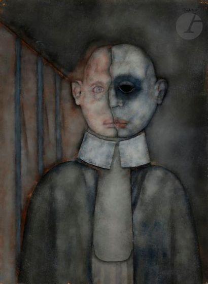 Paul RAMBIÉ (né en 1919) Portrait d'homme,...