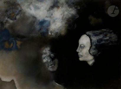 Paul RAMBIÉ (né en 1919) La Nuit et ses deux...