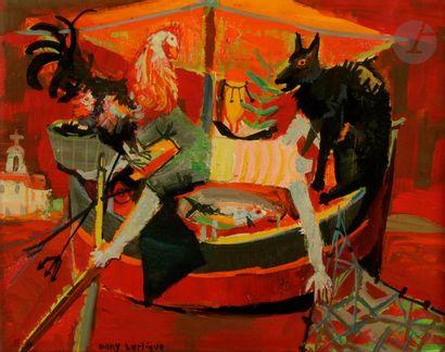Dany LARTIGUE (1921-2017) La Barque de Tropez,...