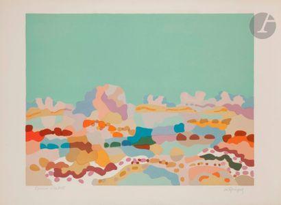 Charles LAPICQUE (1898-1988) Lagune bretonne,...