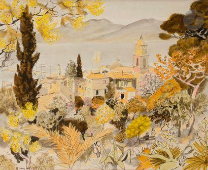 Dany LARTIGUE (1921-2017) Vue de Saint-Tropez...