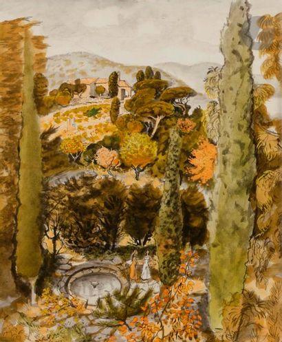Dany LARTIGUE (1921-2017) Jardin en Provence...