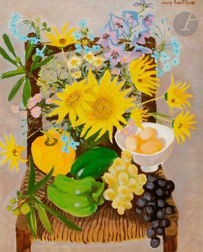 Dany LARTIGUE (1921-2017) Paysage provençal...