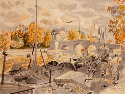 Dany LARTIGUE (1921-2017) Paris, la Seine...