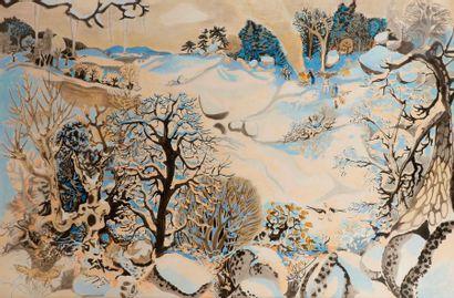 Dany LARTIGUE (1921-2017) Paysage d'hiver...