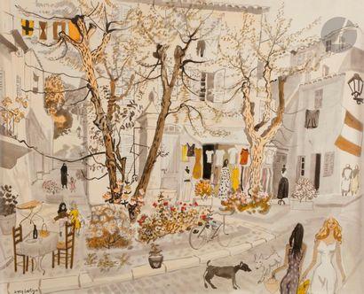 Dany LARTIGUE (1921-2017) La Petite boutique...