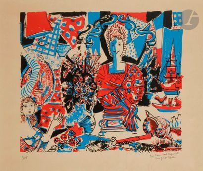 Dany LARTIGUE (1921-2017) Le Buste Lithographie....