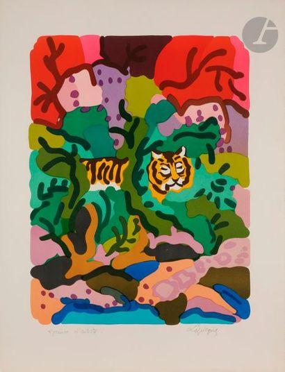 Charles LAPICQUE (1898-1988) Tigre dans la...