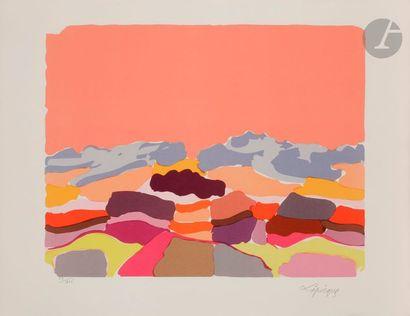 Charles LAPICQUE (1898-1988) Le Sahara, 1962...