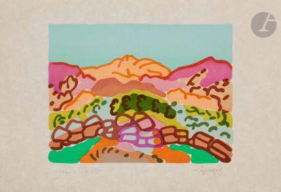 Charles LAPICQUE (1898-1988) Paysage en Laconie,...