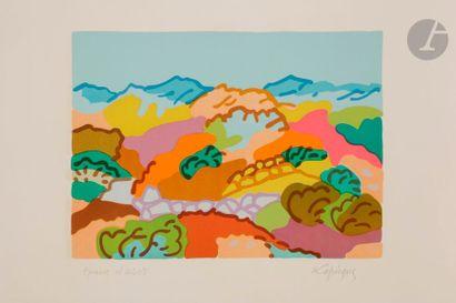 Charles LAPICQUE (1898-1988) Paysage grec,...