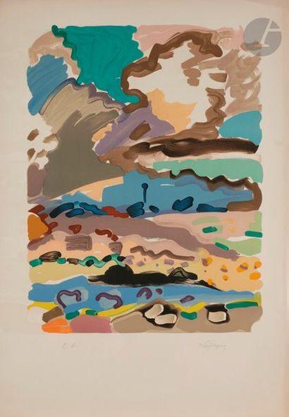 Charles LAPICQUE (1898-1988) Balises et rochers,...