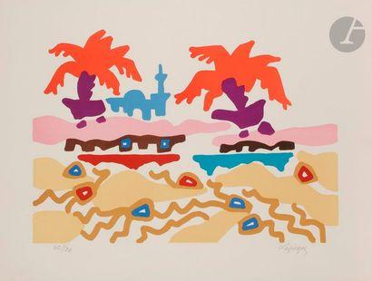 Charles LAPICQUE (1898-1988) Le Mirage, 1970...