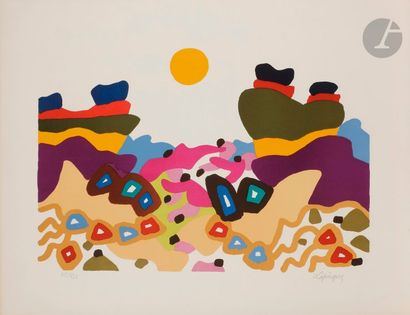Charles LAPICQUE (1898-1988) Le Désert, 1970...