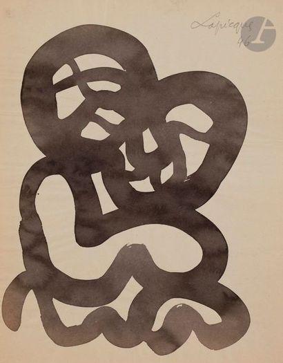 Charles LAPICQUE (1898-1988) Réconciliation,...