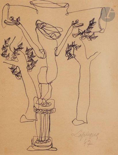 Charles LAPICQUE (1898-1988) Calvaire, 1947...