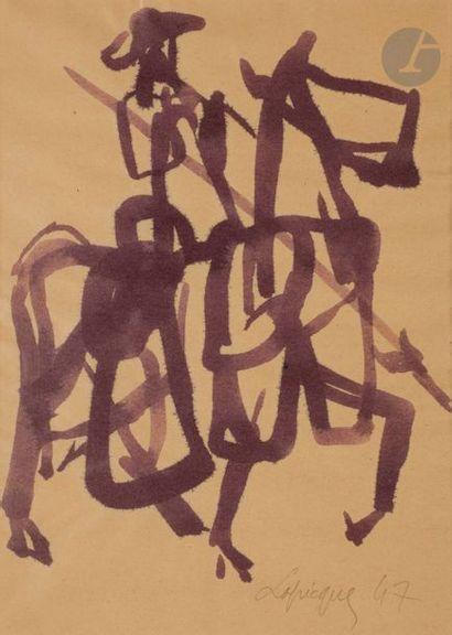 Charles LAPICQUE (1898-1988) Le Picador,...