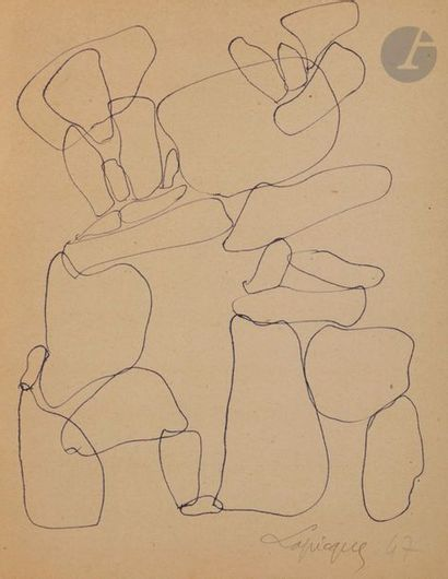Charles LAPICQUE (1898-1988) Sujets divers...