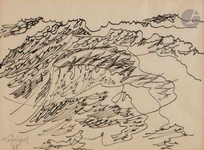 Charles LAPICQUE (1898-1988) La Mer, 1948...