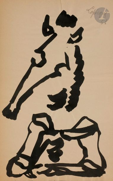 Charles LAPICQUE (1898-1988) Cheval, 1951...