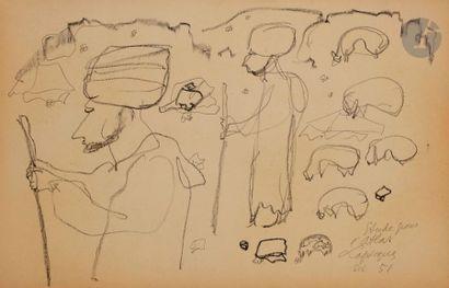 Charles LAPICQUE (1898-1988) Études pour...