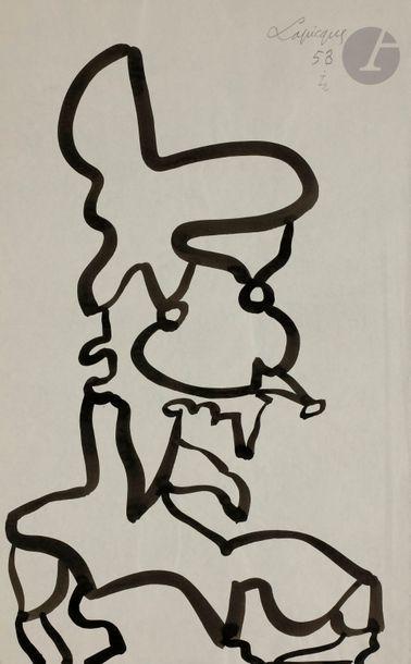 Charles LAPICQUE (1898-1988) Le Doge, 1953...