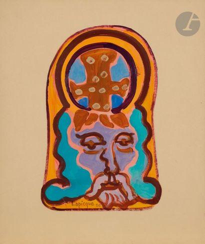 Charles LAPICQUE (1898-1988) Dieu et la croix...