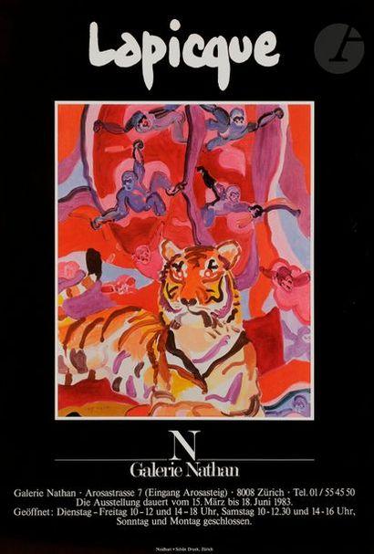 [Charles LAPICQUE] 1 lot d'affiches d'exposition : Galerie Nathan, Zürich - Galerie...