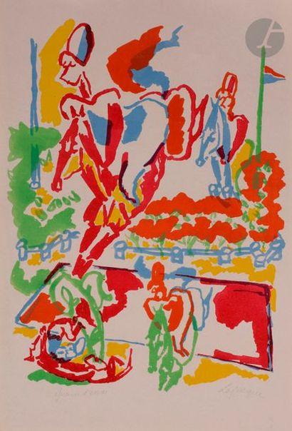 Charles LAPICQUE (1898-1988) Le Saut de la...