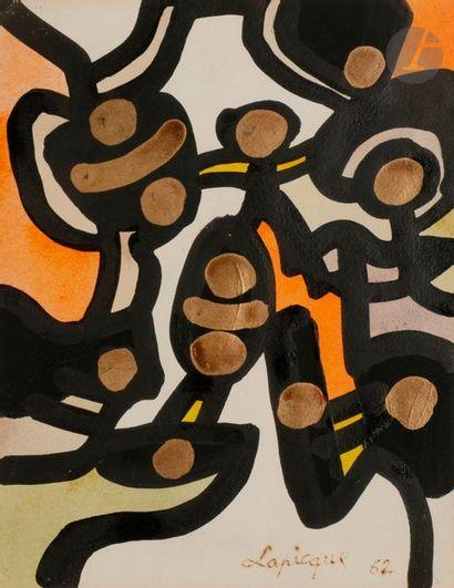 Charles LAPICQUE (1898-1988) Rituel Africain,...