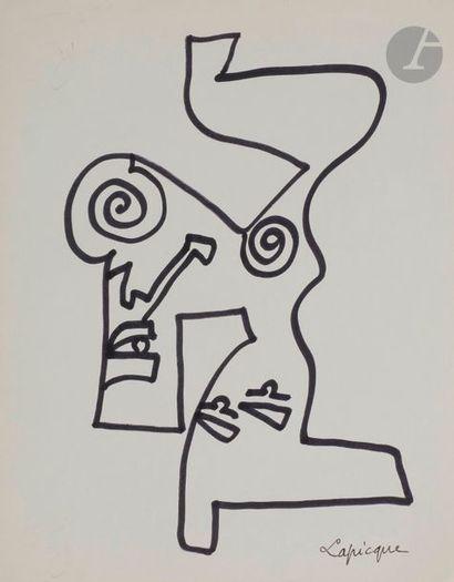 Charles LAPICQUE (1898-1988) De Profundis...