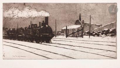 Henri Guérard (1846-1897) Grande locomotive,...
