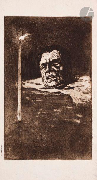 Henri Guérard (1846-1897) Une tête de décapité,...