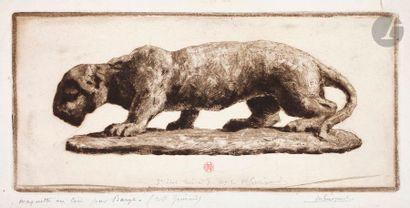 Henri Guérard (1846-1897) Jaguar d'après...