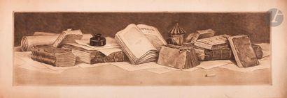 Henri Guérard (1846-1897) Bouquins. Avant...