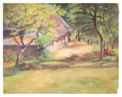Jeanne Guérard-Gonzalès (1852-1924) Chaumière....