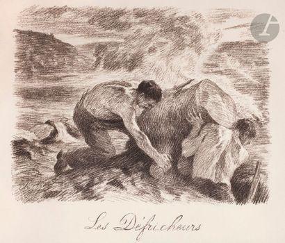 Charles Agard (1856-1914) Les Défricheurs....