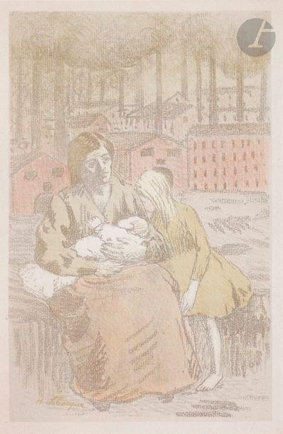 Henri Lebasque (1865-1937) La Mère, ou L'Usine....