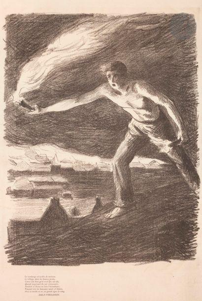 Maximilien Luce (1858-1941) L'Incendiaire....