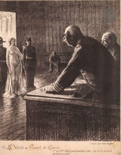 Maximilien Luce (1858-1941) La Vérité au Conseil de guerre. (Pl. 12 de l'album des...