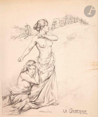 Charles Maurin (1856-1914) La Guerre. (Pl. 14 de l'album des Temps Nouveaux). 1899....