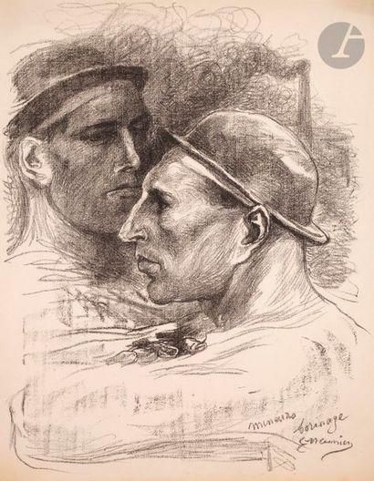 Constantin Meunier (1831-1905) Mineurs, borinage. (Pl. 13 de l'album des Temps Nouveaux)....