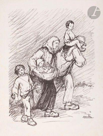 Bernard Naudin (1876-1946) Les Errants. 1913....