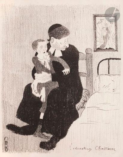 Auguste Roubille (1872-1955) L'Éducation chrétienne. (Pl. 18 de l'album des Temps...