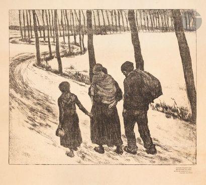 Théo van Rysselberghe (1862-1926) Les Errants. (Pl. 7 de l'album des Temps Nouveaux)....