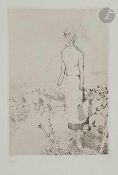 MiscellaneousA lot by Chassériau, Delcourt, Fantin-Latour, Laboureur. Engraved wood;...